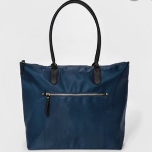 Navy Zip Top Tote Handbag - A New Day